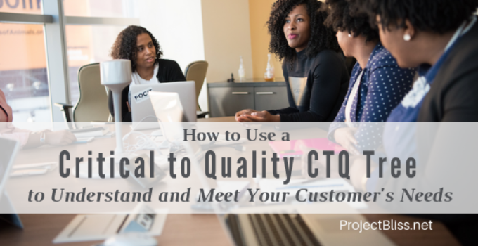 How to Use a Critical to Quality CTQ Tree - Here's how to use the Critical to Quality CTQ Tree to break customer needs and requirements into details that can be measured and met. #projectmanagement https://projectbliss.net/critical-to-quality-ctq-tree/