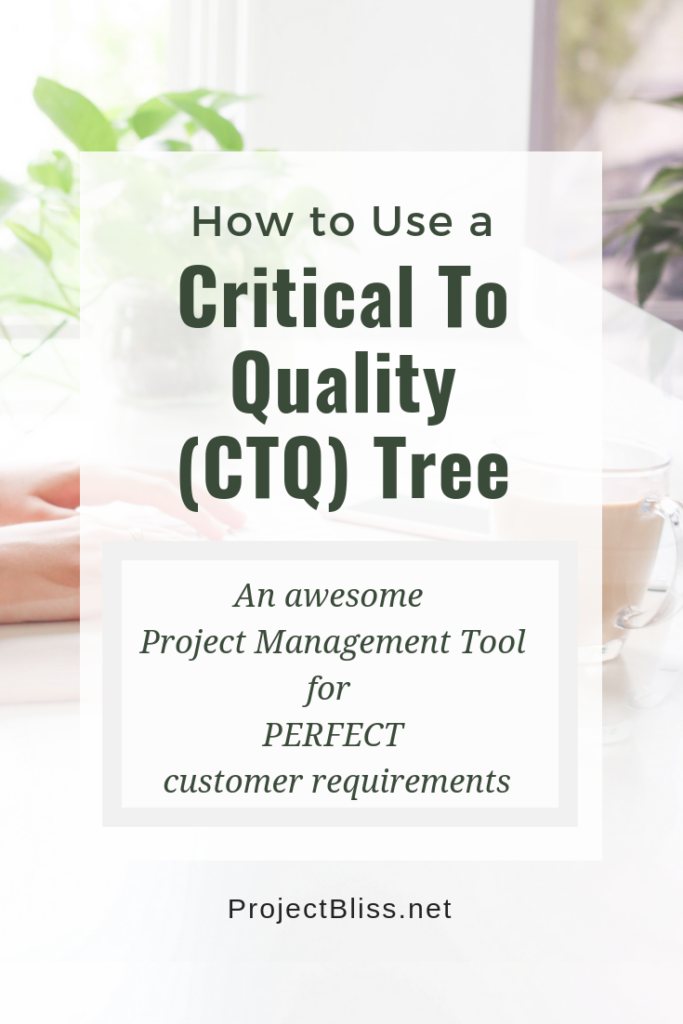 Critical to Quality CTQ Tree