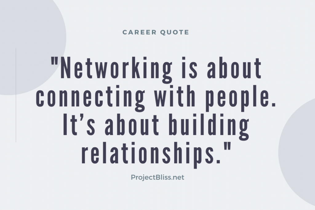 building business relationships is about connecting with people